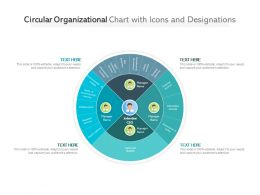 Circular Organizational Chart With Icons And Designations