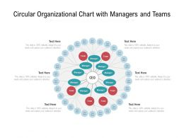 Circular Organizational Chart With Managers And Teams