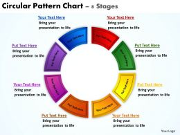circular pattern chart 8 stages powerpoint diagrams presentation slides graphics 0912
