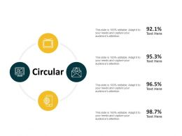 Circular Percentage Ppt Powerpoint Presentation Styles Visual Aids