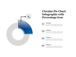 Circular Pie Chart Infographic With Percentage Icon