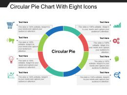 Circular Pie Chart With Eight Icons