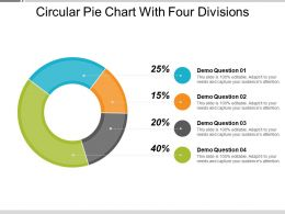 Circular Pie Chart With Four Divisions
