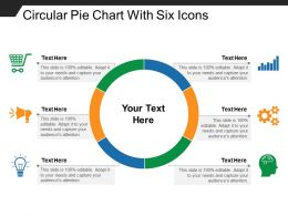 Circular Pie Chart With Six Icons