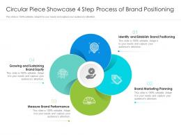 Circular Piece Showcase 4 Step Process Of Brand Positioning