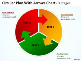 Circular Plan three With Arrows templates Chart 3 Stages 12