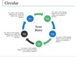 Circular Ppt Show Vector