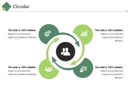 Circular Ppt Summary Grid