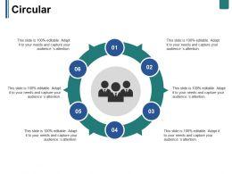 Circular Ppt Summary Mockup