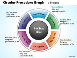 circular procedure graph 6 stages powerpoint diagrams presentation slides graphics 0912