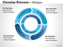 56837205 Style Circular Concentric 4 Piece Powerpoint Template Diagram Graphic Slide
