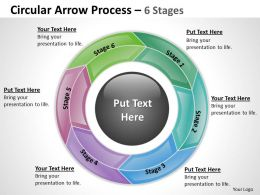 Circular Process 6 Concepts Powerpoint Diagram Templates Graphics 712