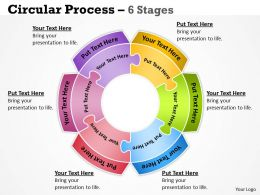 29018397 Style Puzzles Circular 6 Piece Powerpoint Presentation Diagram Infographic Slide