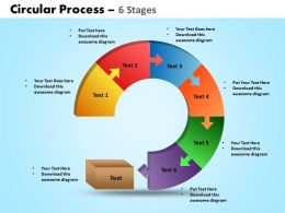 circular process 6 stages powerpoint slides and ppt templates 0412