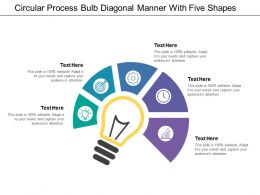 Circular Process Bulb Diagonal Manner With Five Shapes