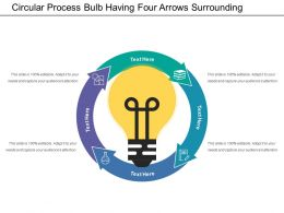 Circular Process Bulb Having Four Arrows Surrounding Autosaved