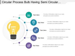 Circular Process Bulb Having Semi Circular Line With Dots