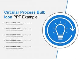 Circular Process Bulb Icon Ppt Example