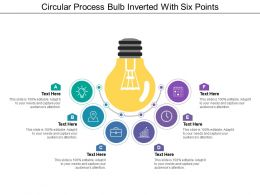Circular Process Bulb Inverted With Six Points