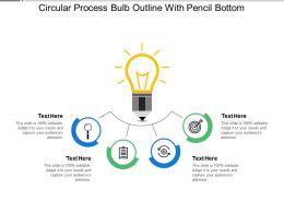 Circular Process Bulb Outline With Pencil Bottom
