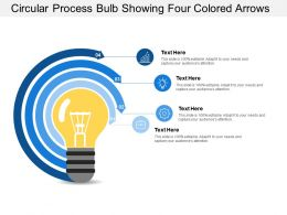Circular Process Bulb Showing Four Colored Arrows