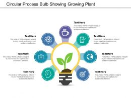 Circular Process Bulb Showing Growing Plant