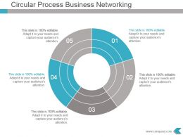 Circular Process Business Networking Powerpoint Design
