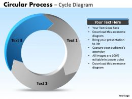 circular process cycle diagram 3 stages powerpoint Slides templates