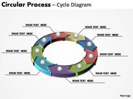 circular process cycle diagram editable powerpoint templates