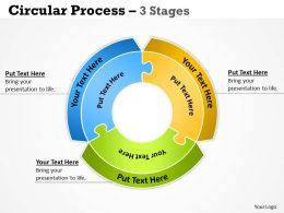 Circular Process diagram 3 Stages 12
