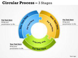 Circular Process diagram 3 Stages 12