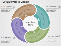 Circular Process Diagram Flat Powerpoint Design