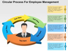 Circular Process For Employee Management Flat Powerpoint Design