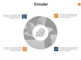 Circular Process Gear C1029 Ppt Powerpoint Presentation Show Clipart