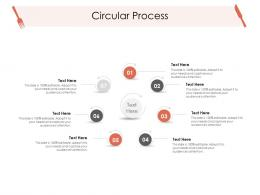 Circular Process Hotel Management Industry Ppt Template
