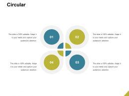 Circular Process Management Ppt Powerpoint Presentation Show