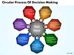Circular Process Of Decision Making Powerpoint Templates ppt presentation slides 812