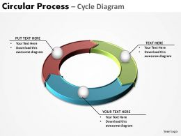 circular process pieces interconnected cycle diagram 3 stages ppt slides diagrams templates powerpoint info graphics