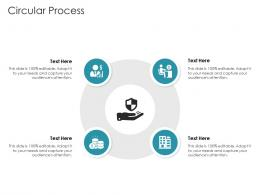 Circular Process Pitch Deck Raise Debt IPO Banking Institutions Ppt Topics