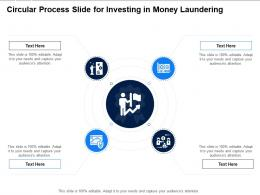 Circular Process Slide For Investing In Money Laundering Infographic Template