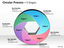 Circular Process Time Line Chart Editable Powerpoint Templates