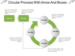 Circular Process With Arrow And Boxes