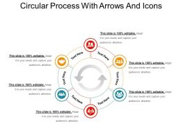 Circular Process With Arrows And Icons