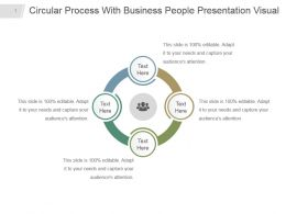 Circular Process With Business People Presentation Visual
