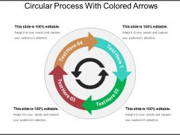 Circular Process With Colored Arrows