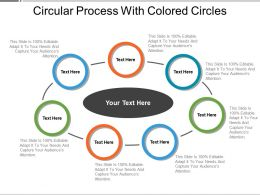 Circular Process With Colored Circles