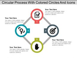 Circular Process With Colored Circles And Icons