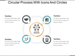 Circular Process With Icons And Circles
