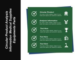 Circular Product Analysis Information Medical Supplies Equipments Parts