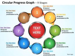 circular progress graph 9 stages powerpoint diagrams presentation slides graphics 0912
